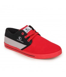 Cefiro Men Casual Shoes Fun02 Red Black Grey CCS0010